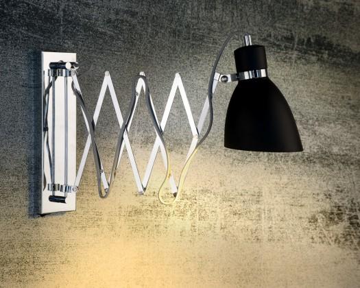 Gio - nástenné osvetlenie, 11W, E14 (čierna)
