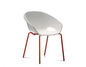 Globe - Jedálenská stolička (lak červený, biela)
