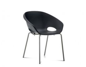 Globe - Jedálenská stolička (lak pieskový, čierna)