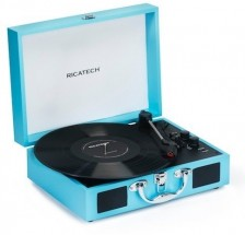 Gramofón Ricatech RTT21, modrý