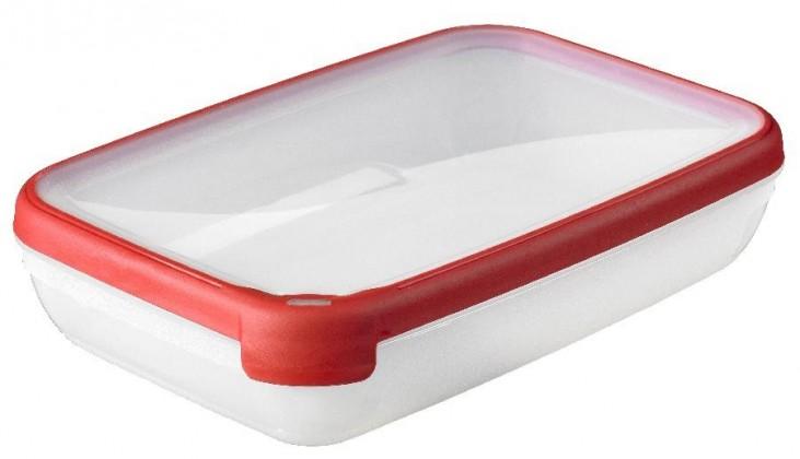 GRAND CHEF, obdlžník, 2,6l (plast,červená)