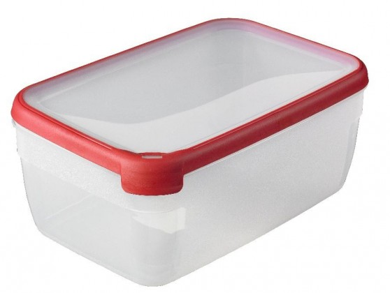 GRAND CHEF, obdlžník, 5,4l (plast,červená)