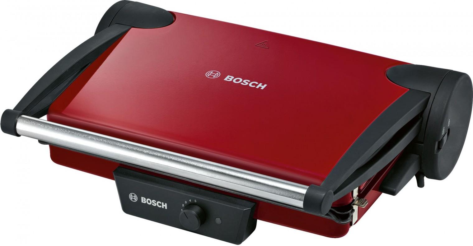 Gril Kontaktný gril Bosch TFB4402V, červený
