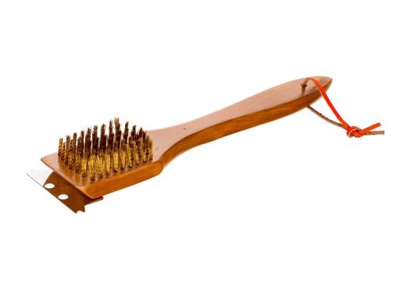 Gril, príslušenstvo Drevený čistiaca kefa, 30cm (drevo)