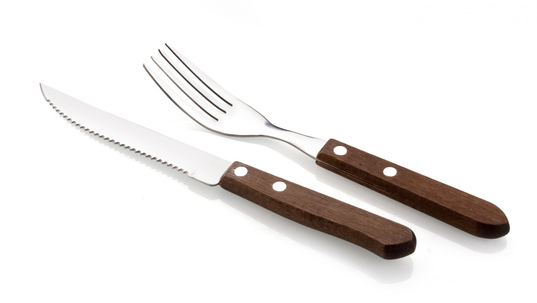 Gril, príslušenstvo Steakový set, 12-ti dielny (drevo, nerez)
