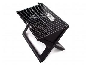 Grill piknikový Flat (čierna)