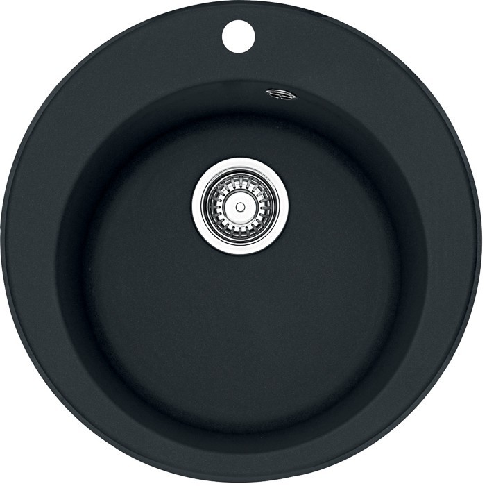 Guľatý Franke - drez Tectonite RID 610, 500 mm (čierna)