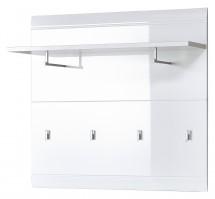 GW-Adana - Vešiakový panel, polica, 4x háčik (biela)
