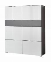 GW-Alameda - Botník,6x dvere,2x šuplík (antracit/biela)