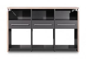GW-Duo - stôl (antracit, 3 zásuvky)