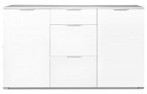 GW-Event - Skrinka, 3x zásuvka, 2x police, 144 cm (biela)