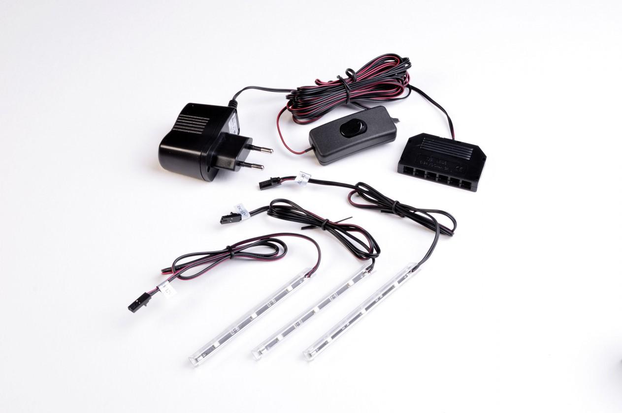 GW-Fino - LED osvetlenie,transformátor,modré,3xLED (čierna)