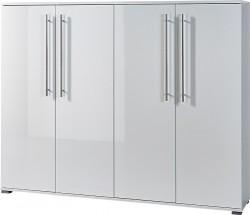GW-Inside - skrinka na topánky, 4x dvere (biela)