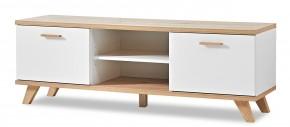 GW-Oslo - TV stolek, 2x dvere, 1x police (biela,dub sanremo)