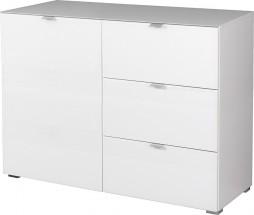 GW-Primera - skrinka, 1x dvere, 3x šuplík (biela)