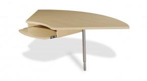 GW-Profi-Spojovací roh stola,výškovo nast. (javor/strieborná)