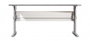 GW-Profi-Stol,výškovo nastavitelný,š. 160cm (svetle sivá)