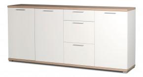GW-Top - Skrinka, 3x dvere (biela / dub sonoma)