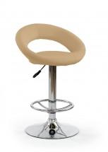 H15 - Barová stolička (béžová, strieborná)