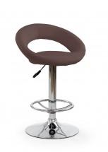 H15 - Barová stolička (hnedá, strieborná)