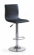 H21 - Barová stolička (čierna, strieborná)