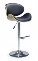 H44 - Barová židle, dub-černá