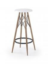 H68 - Barová stolička (biela, hnedá)