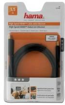 Hama HDMI kábel 122104 4K 3D 18Gbit/s pozlátený 1,5 m