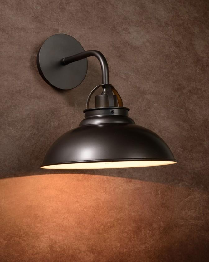 Hamois - nástenné osvetlenie, 60W, E27 (sivá)