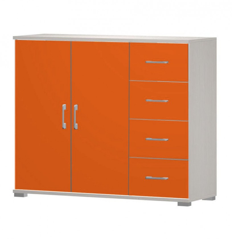 Happy - typ05 + typ51 + 2xtyp 60 (woodline creme/tmavo oranžová)