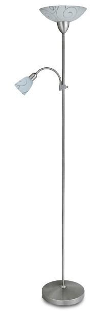 Harmony - Lampa, E27 (hodvábne lesklá chromová/bílý vzor)