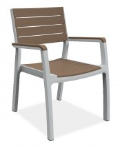 Harmony - Stolička (biela, cappuccino)