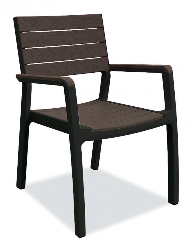 Harmony - Stolička (čierna, hnedá)