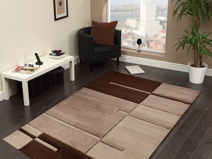 Hawaii - koberec, 150x80cm (100%PP friese, hnedá)