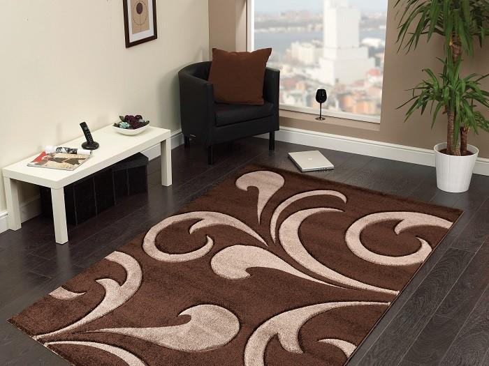 Hawaii - koberec, 290x200cm (100%PP friese, hnedá)