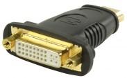 HDMI adaptér s konektormi HDMI–DVI zásuvka,čier