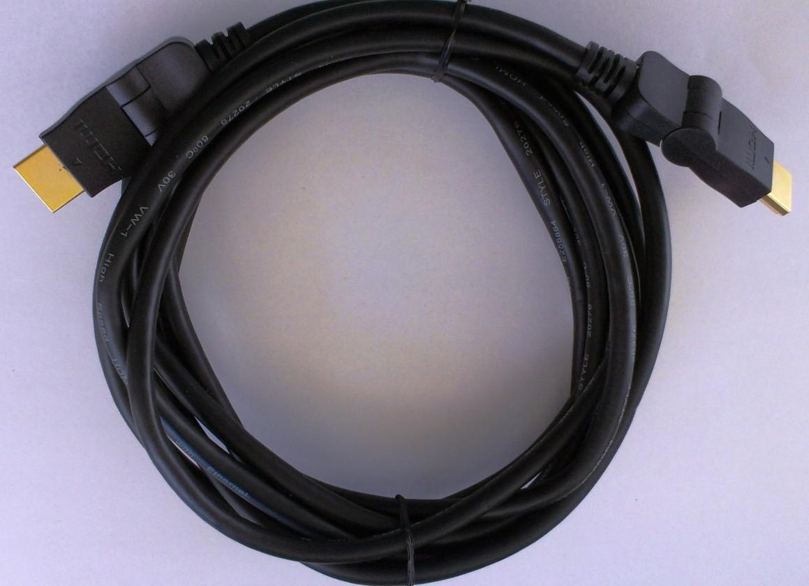 HDMI káble HDMI kábel MK Floria, otočné konektory, 2.0, 1,8m
