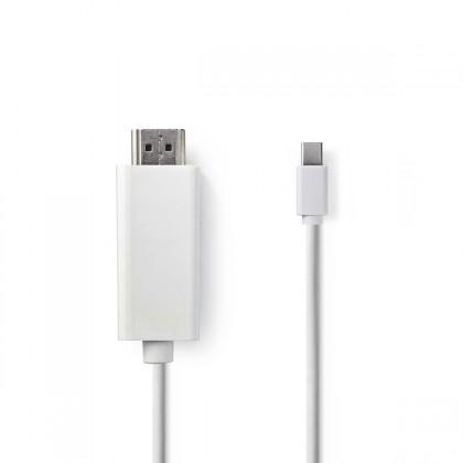 HDMI káble HDMI Kábel Nedis mini DisplayPort, 2 m, biely
