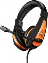 Headset Canyon Star Raider GH-1A, kábel 2 m, čierny/oranžový