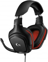 Headset Logitech G332, herný, čierny/červený ROZBALENÉ