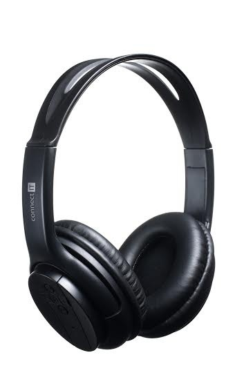 Headset, náhlavná súprava Connect IT Bluetooth stereo slúchadlá s mikrofónom, čierna ROZBAL