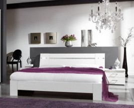 Heaven - Komplet 2, posteľ 180cm (alpská biela)