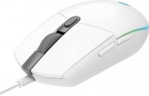 Herná myš LOGITECH G102 LIGHTSYNC, odozva 1 ms, biela