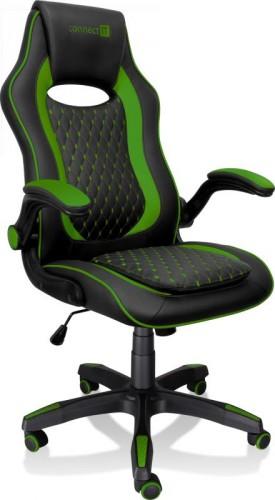 Herná stolička Connect IT Matrix Pro, zelená CGC-0600-GR