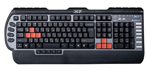 Herné klávesnice A4tech G800MU PS/2 CZ, čierna