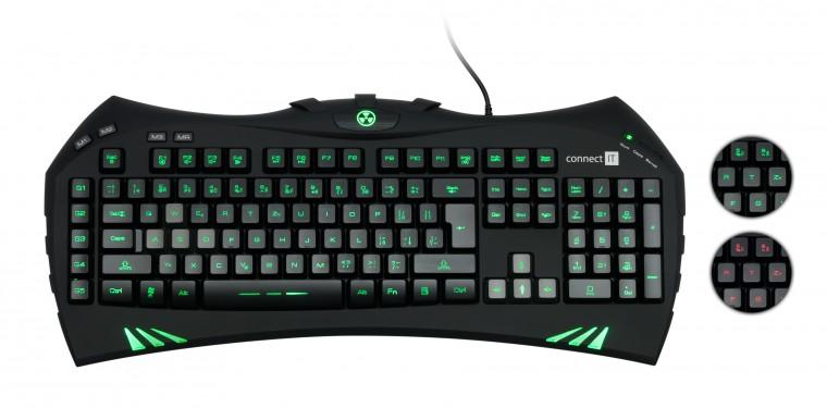 Herné klávesnice Connect IT Battle Keyboard CI-147 USB CZ, černá ROZBALENO