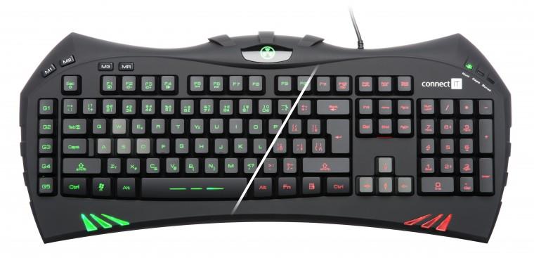Herné klávesnice Connect IT Battle Keyboard CI-388USB SK, čierna