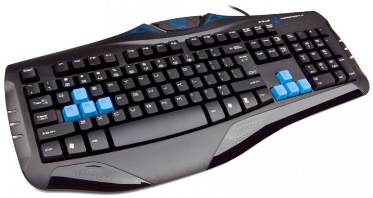 Herné klávesnice E-BLUE Cobra EKM057BK USB CZ+SK, čierna
