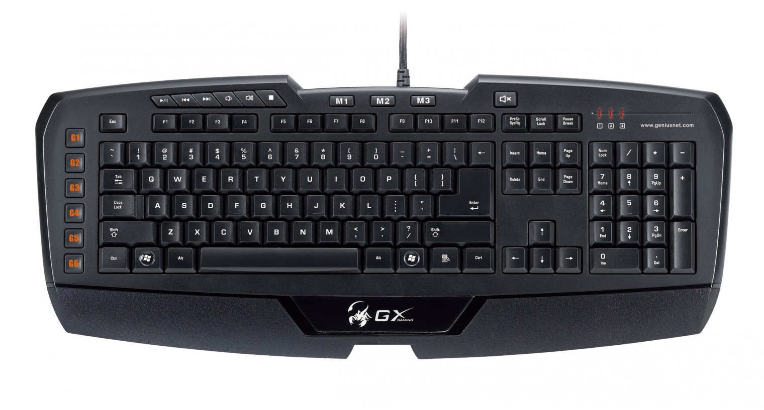 Herné klávesnice Genius GX-Gaming Imperator USB CZ, čierna