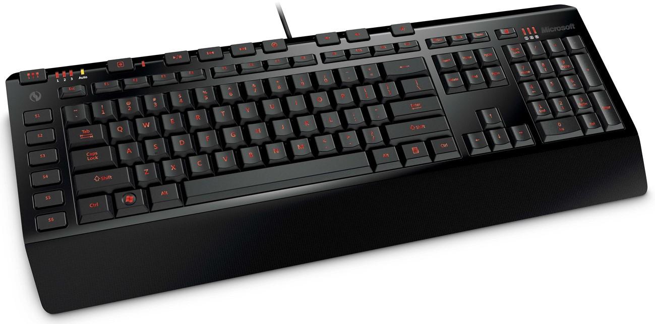 Herné klávesnice Microsoft SideWinder X4 USB CZ, čierna